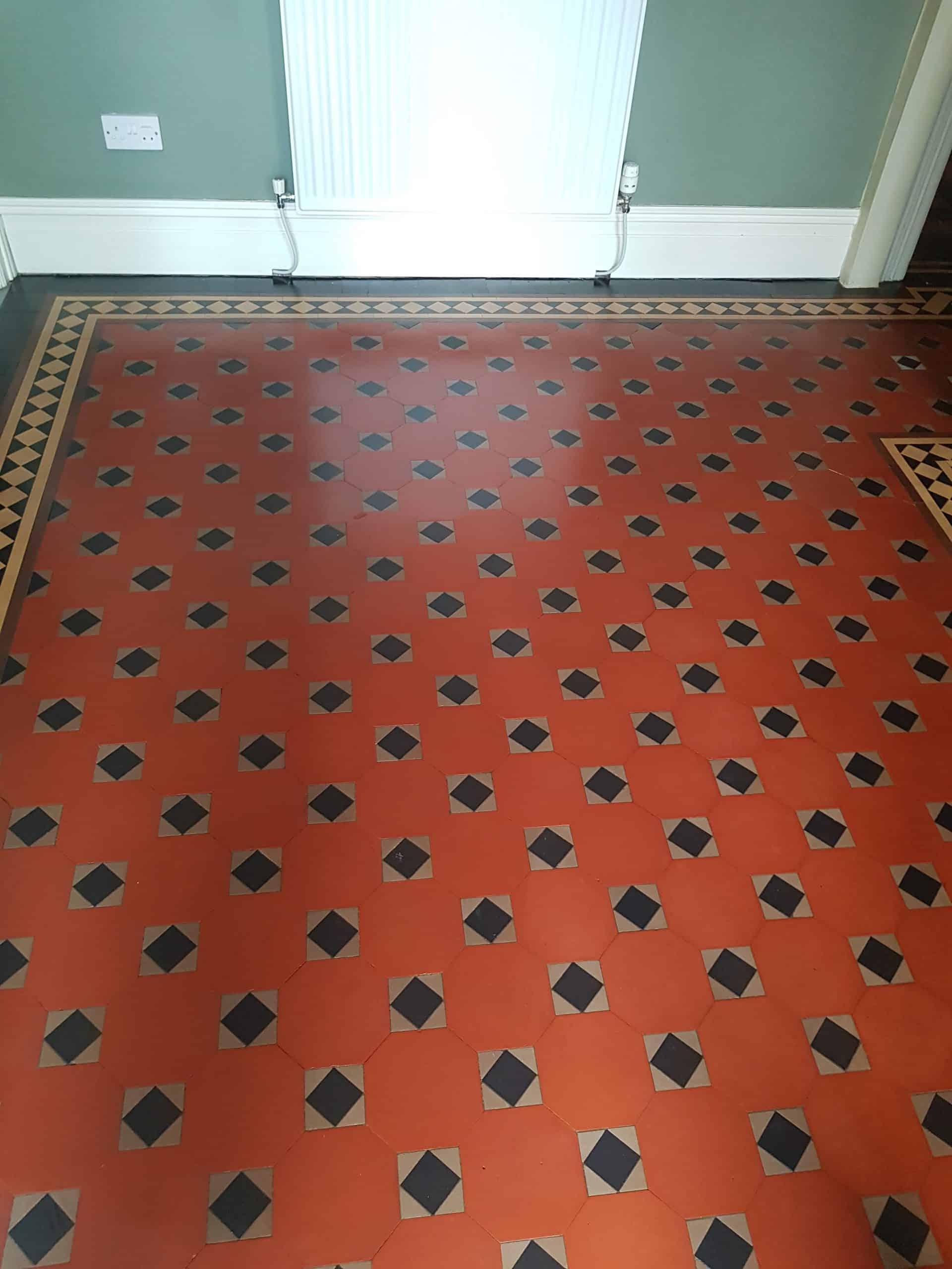 Victorian tiles restored in Barrow In Furness