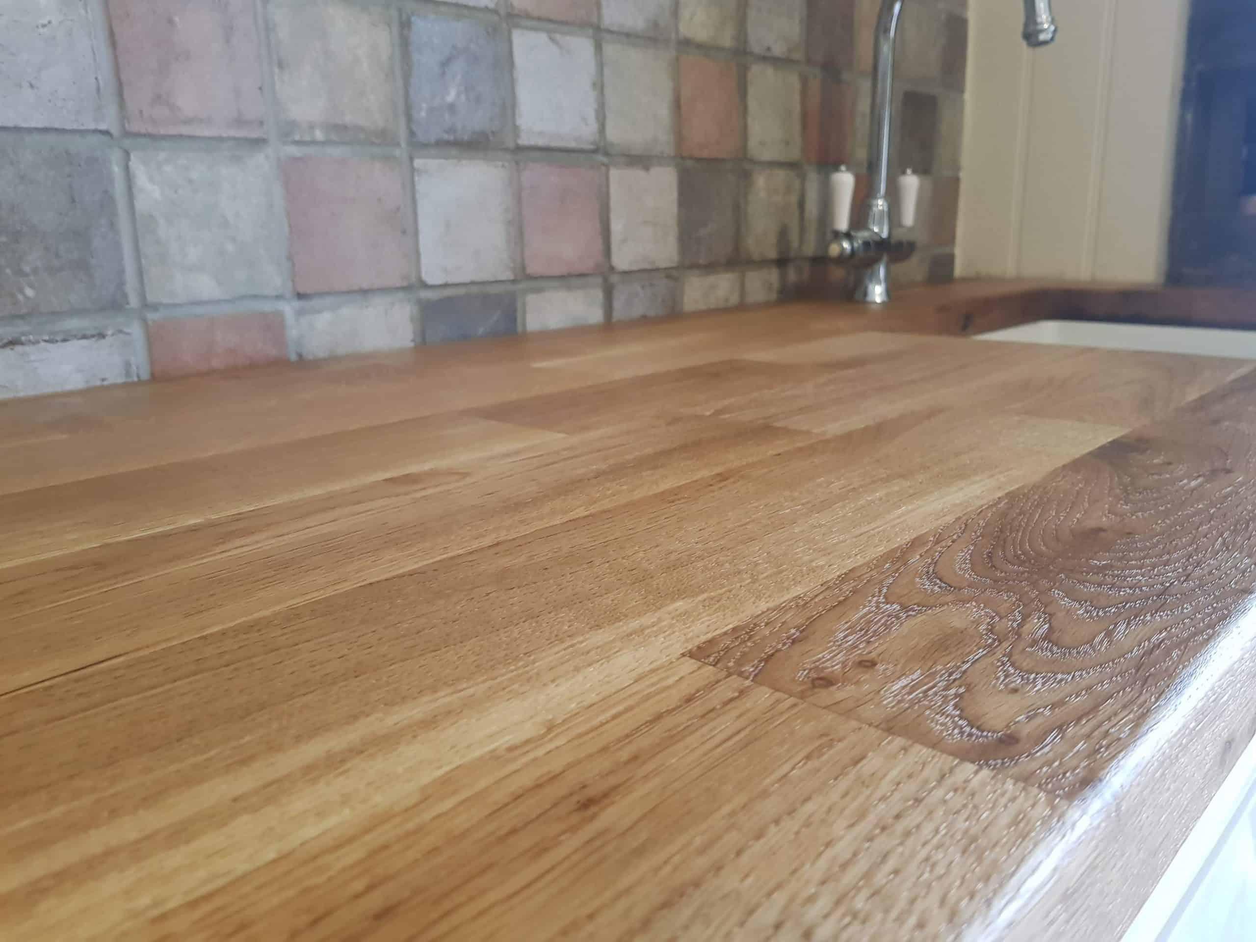 Oak Wooden Worktop Restoration