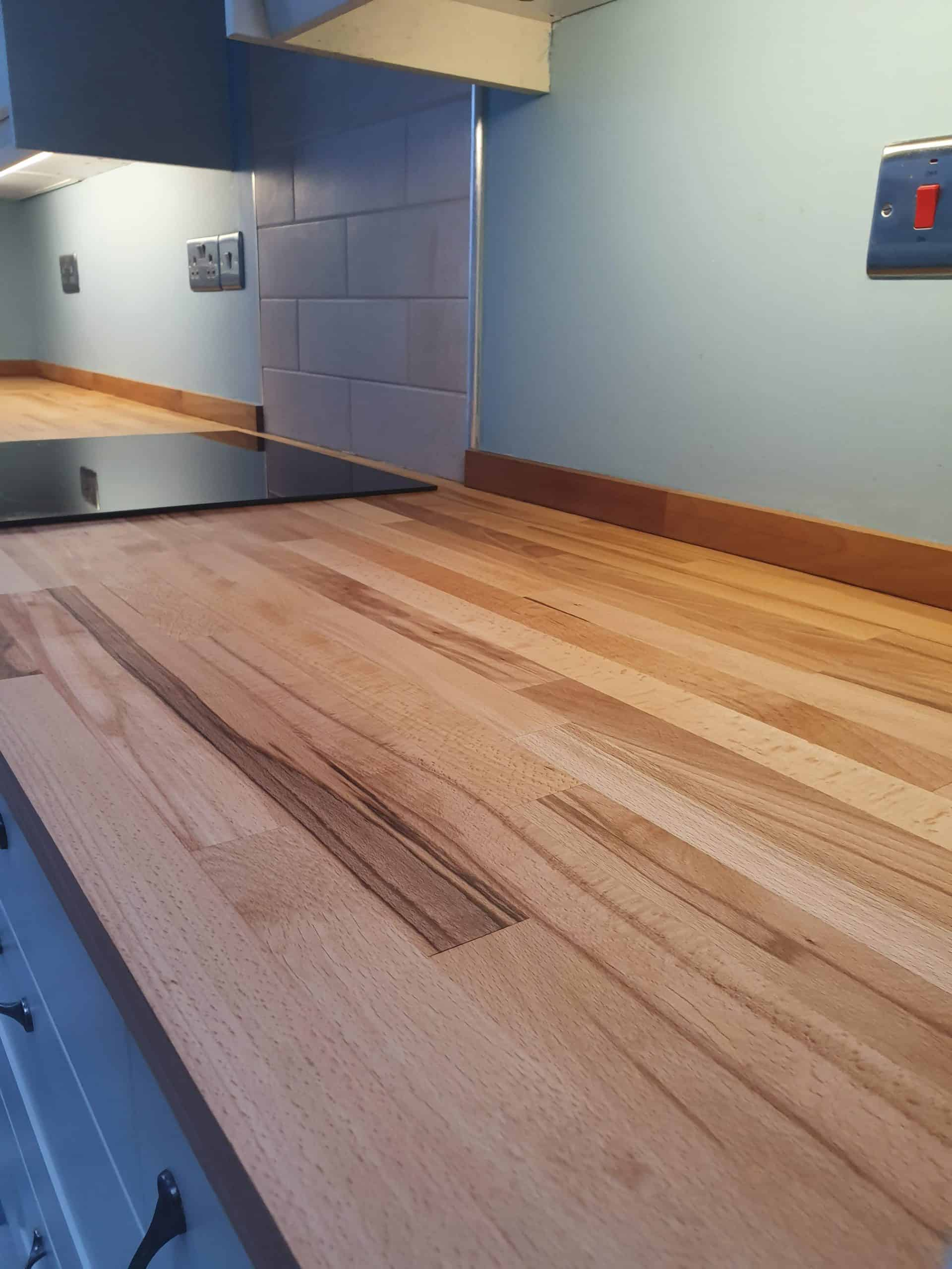 Wooden Worktop Sanded and Finished with Magic Oil 2K