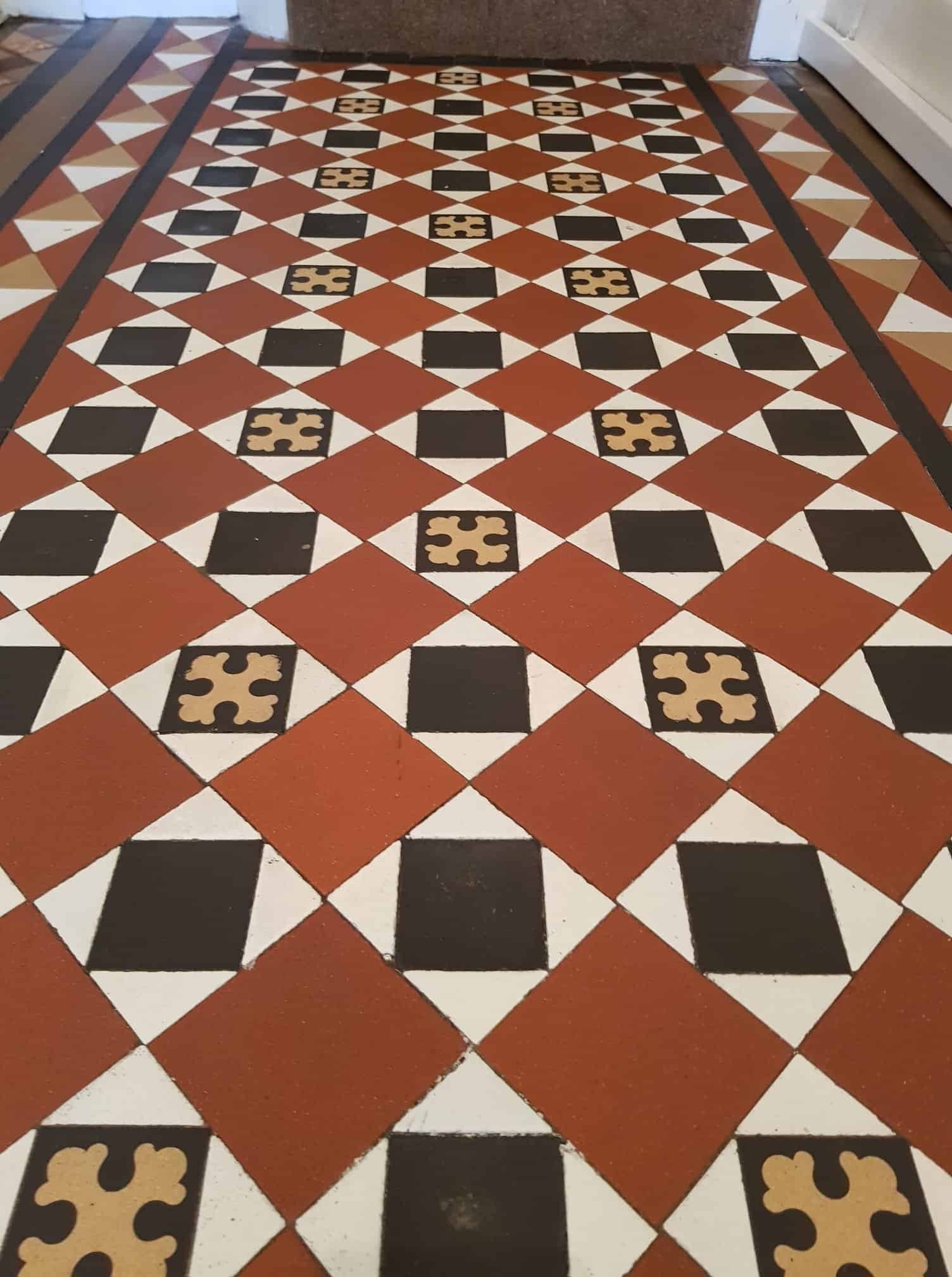 Victorian tiles restored in Barrow In Furness