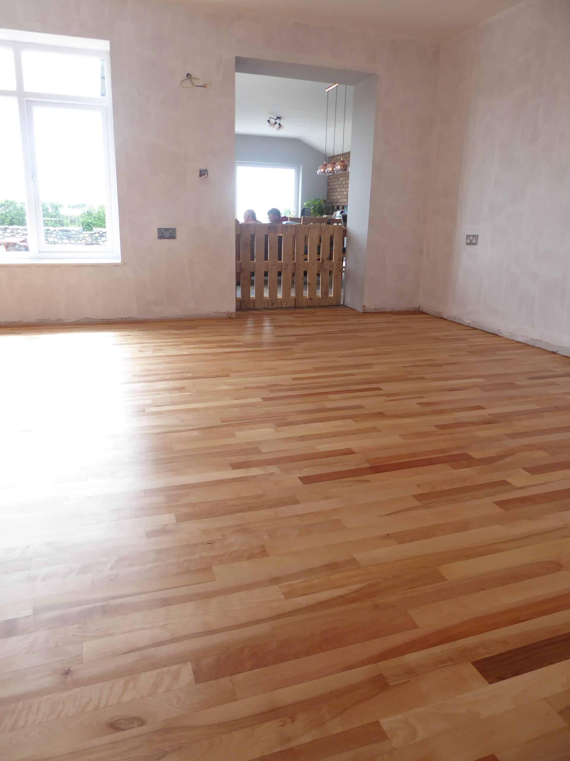 Birch Flooring Sanded