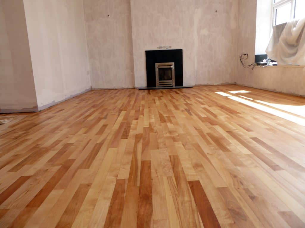 birch flooring sanded and oiled