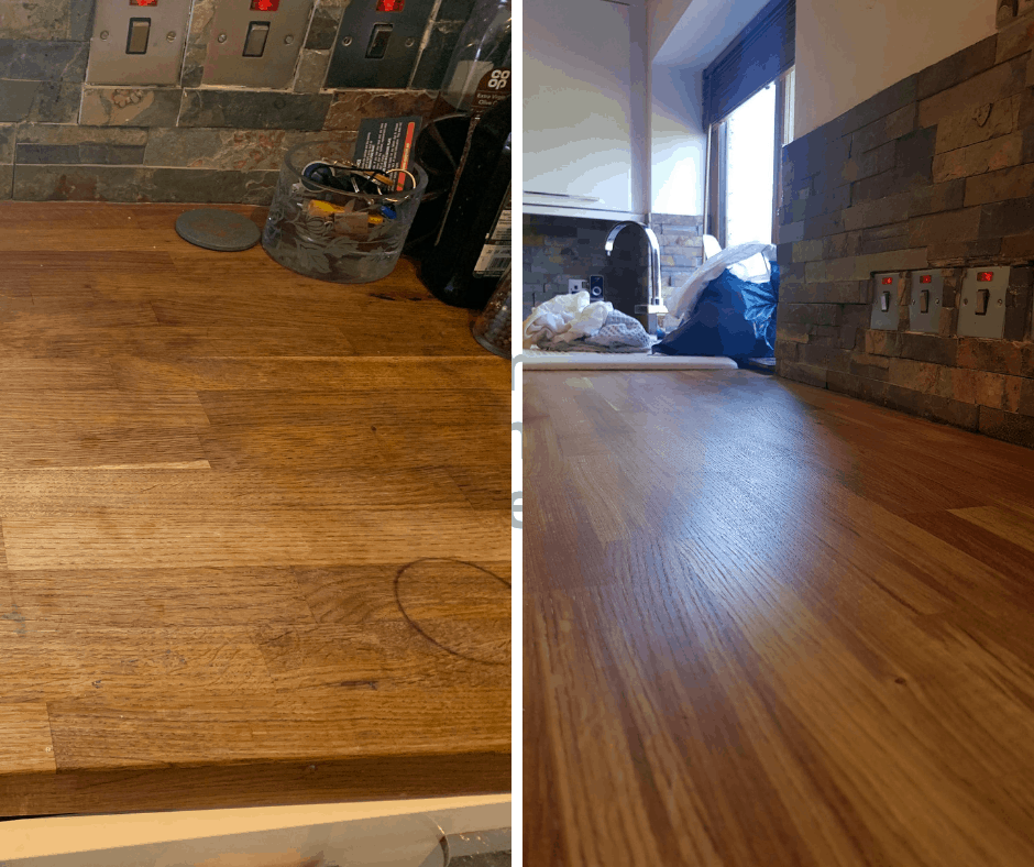 wooden worktop restoration barrow in furness