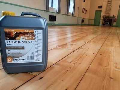 wooden hall floor sanded and lacquered in Cumbria