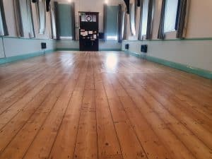 140 year old pine hall floor sanded and varnished
