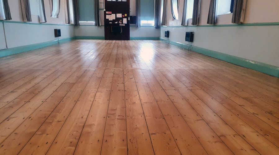 Stainton Village Hall Floor Sanded and Restored