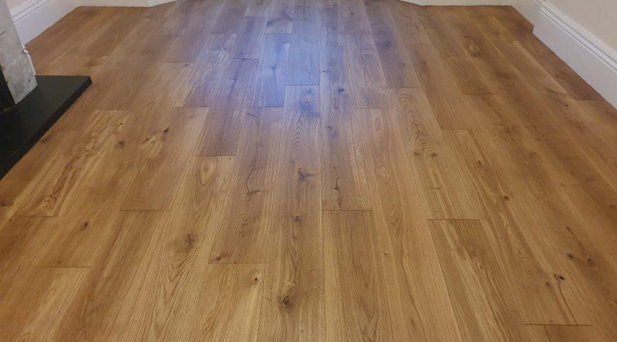 oak flooring oiled after sanding in Barrow In Furness