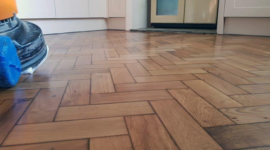 Parquet floor restoration in Ulverston