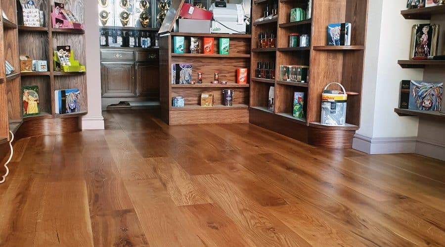 wood floor sanding and restoration cumbria in a shop