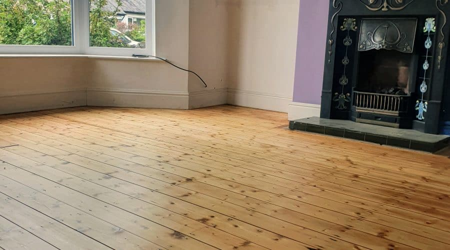 pine floor in Ulverston sanded and oiled