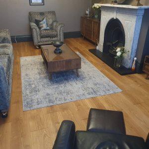 oak floor sanding and restoration completed in Cumbria