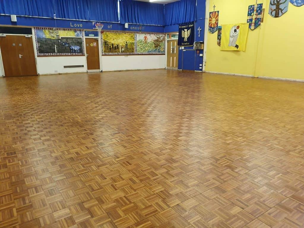 School hall floor restoration manchester