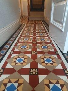 victorian floor tiles retored