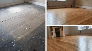 pine floorboard restoration cumbria