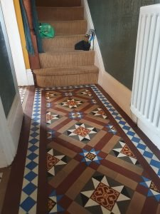 orginal character victorian tiles cleaned and sealed in Barrow in Furness Cumbria