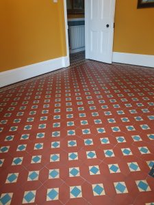 original floor tiles cleaned and restored in barrow in furness