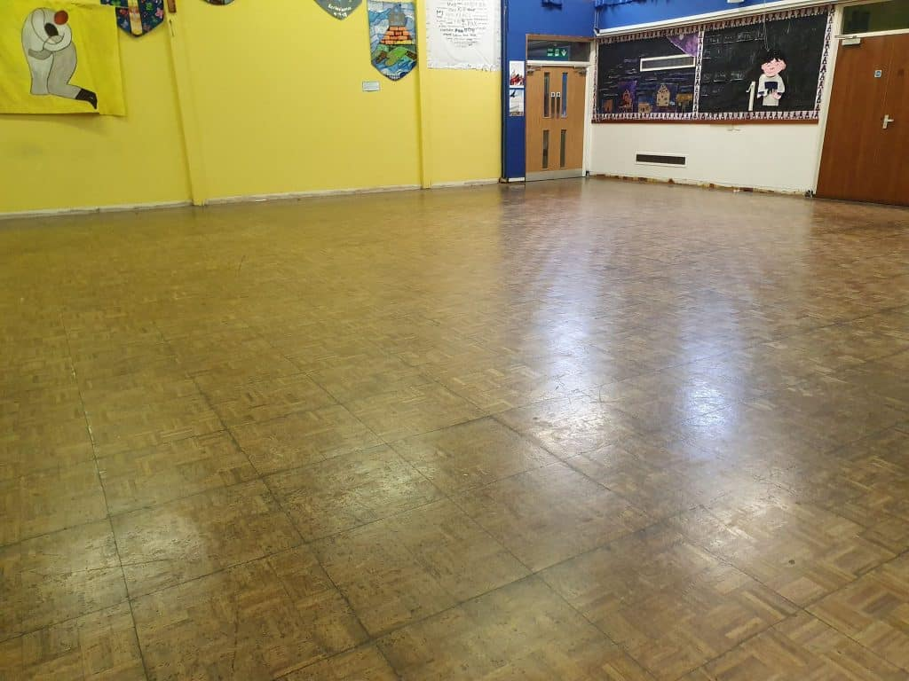 Manchester wooden school hall restoration