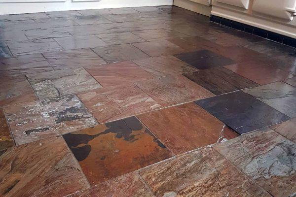 slate flooring cleaned ulverston