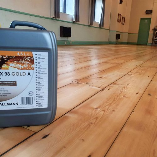 Community Hall Wooden Flooring Sanded and Polished